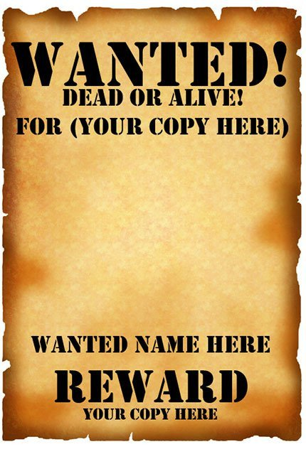 Wanted Poster Template Microsoft Word 29 Free Wanted Poster Templates Fbi and Old West