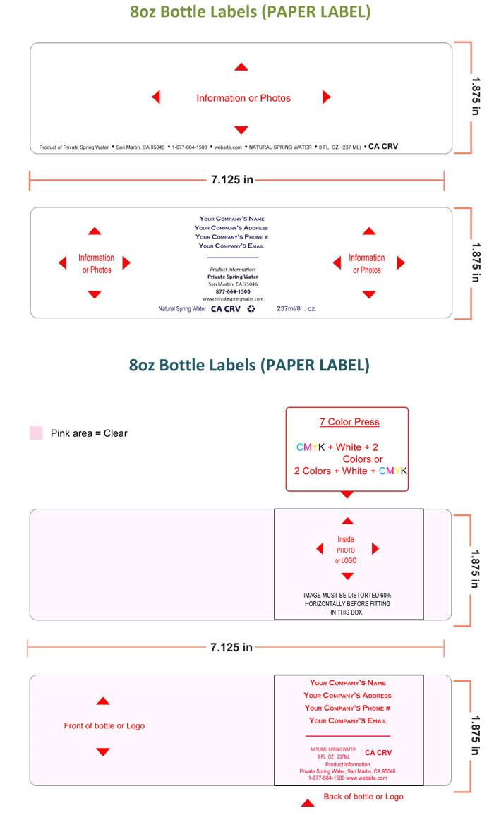 Water Bottle Label Template Water Bottle Label Template Make Personalized Bottle Labels