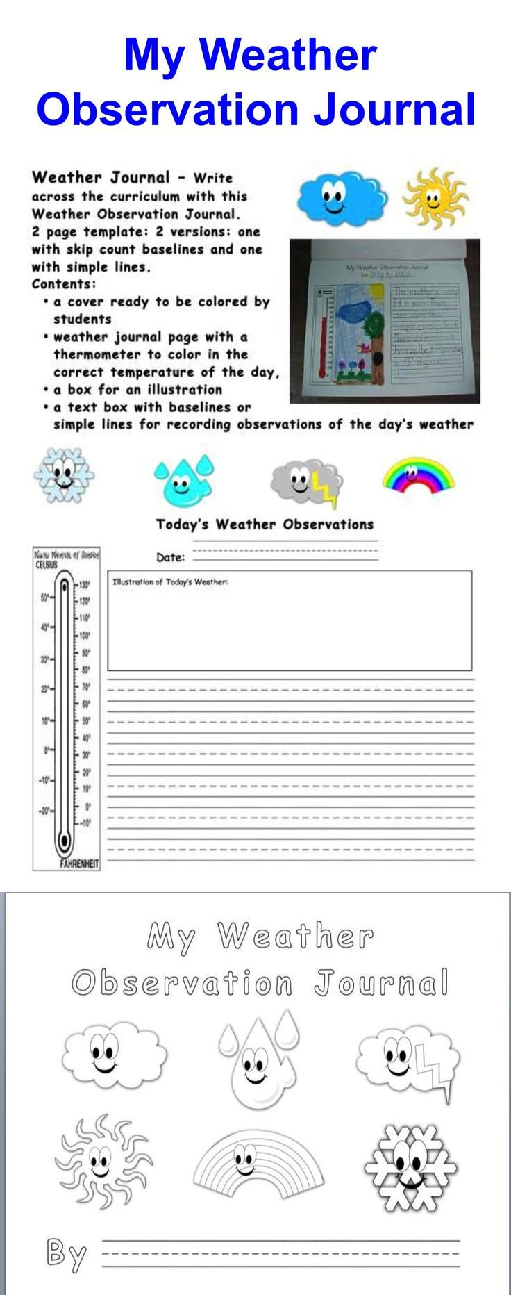 Weather Journal Template 88 Best 2nd Grade Science Images On Pinterest