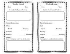 Template for weather observation journal