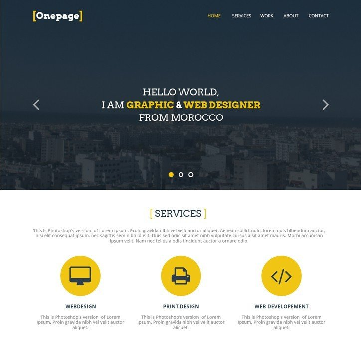 Web Developer Portfolio Templates 27 Professional Free Psd Website Templates