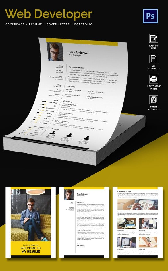 Web Developer Portfolio Templates 51 Creative Resume Templates – Free Psd Eps format