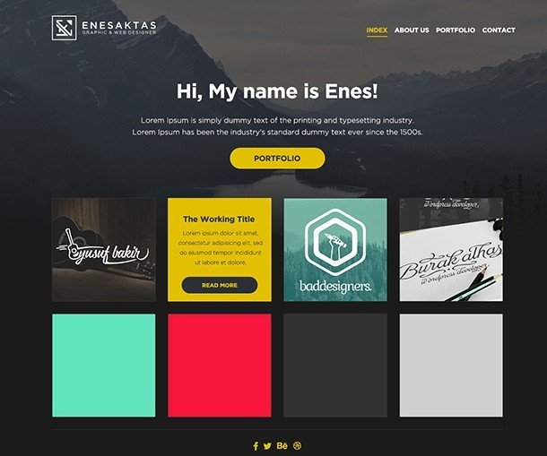 Web Developer Portfolio Templates Free E Page Portfolio Website Template Psd Titanui