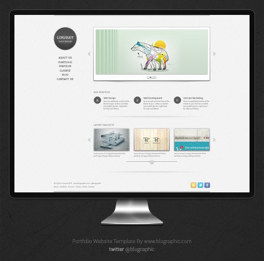 Web Developer Portfolio Templates Free Portfolio Website Template Psd
