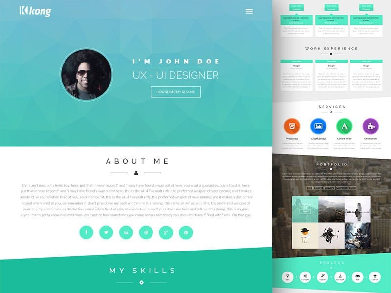 Web Developer Portfolio Templates Free Portfolio Website Templates Psd Css Author