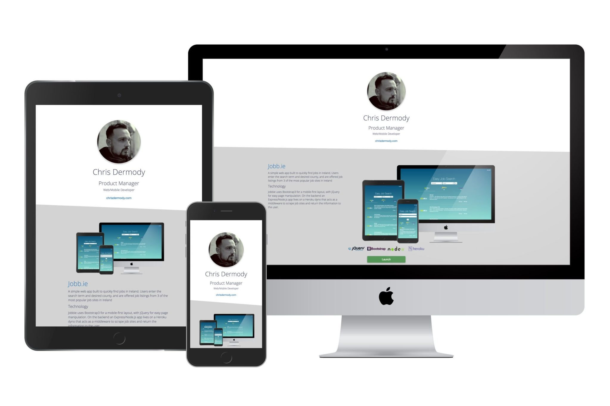 Free Web Developer Portfolio templates 3 layouts to