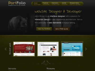 Web Developer Portfolio Templates It Portfolio Joomla Template