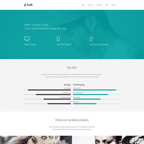 Web Developer Portfolio Templates Web Designer Portfolio Website Template