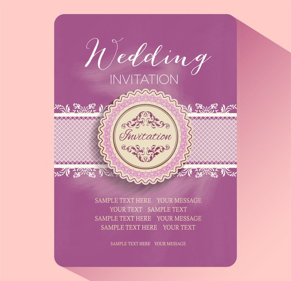 Wedding Card Template Free Download Editable Wedding Invitations Free Vector 3 937