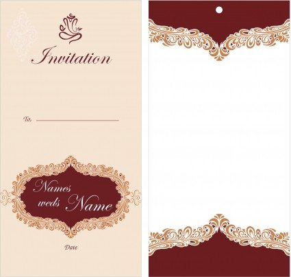 Wedding Card Template Free Download Free Printable Wedding Invitation Templates Download