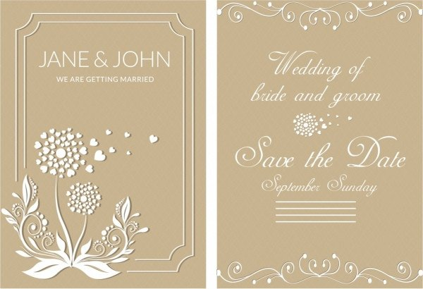 Wedding Card Template Free Download Wedding Card Background Designs Free Vector