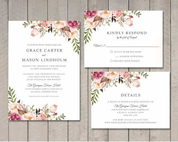 Wedding Card Template Free Download Wedding Invitation Template 71 Free Printable Word Pdf