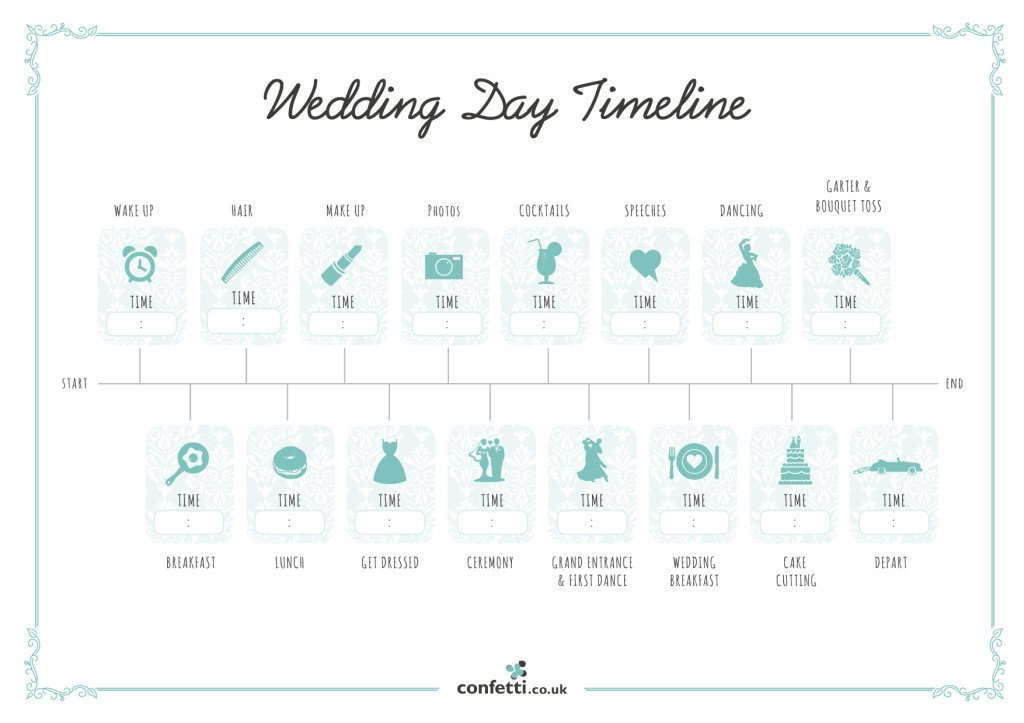 Wedding Day Timeline Template Free Wedding Day Timeline Free Printable Guide Confetti