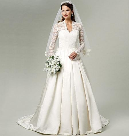 Wedding Dress Patterns Free butterick Pattern B5731 Misses Wedding Dress — Jaycotts