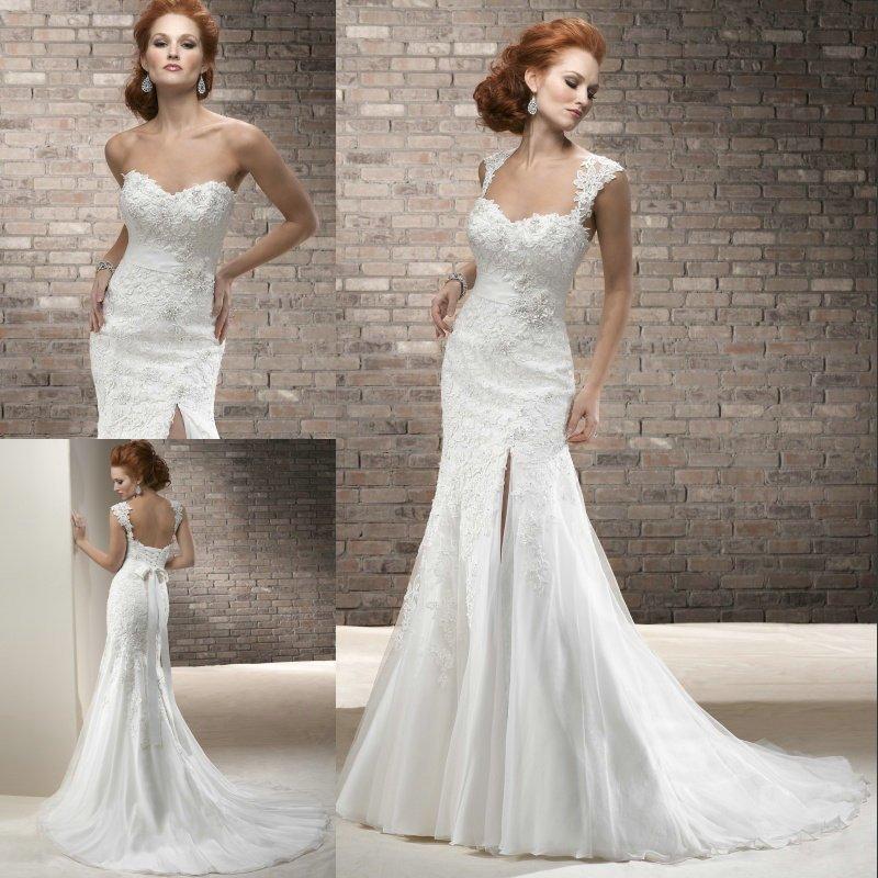 Wedding Dress Patterns Free Charm Fashion 2015 Fabulous Appliqued Sweetheart Cap