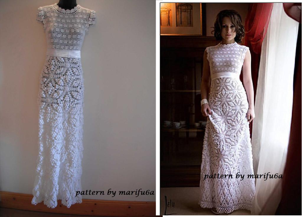 Wedding Dress Patterns Free Crochet Wedding Dress by Marifu6a Craftsy