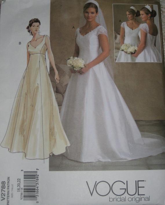 Wedding Dress Patterns Free Vogue 2788 Wedding Dress Sewing Pattern Full Figure Plus Size