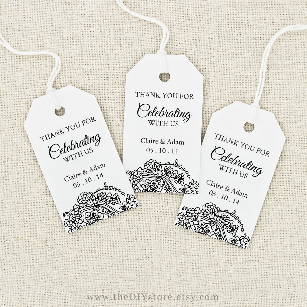 Favor Tag Printable Text Editable MEDIUM Tag Size Wedding