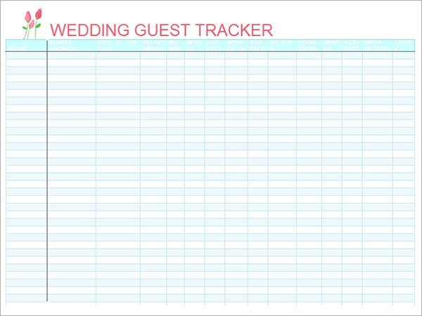Wedding Guest List Excel 17 Wedding Guest List Templates Pdf Word Excel