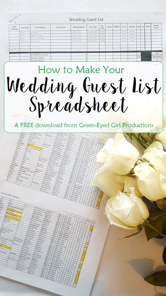 Wedding Guest List Excel How to Make Your Wedding Guest List Spreadsheet Free