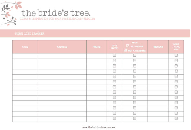 Wedding Guest List Excel Wedding Guest Lists Excel Find Word Templates