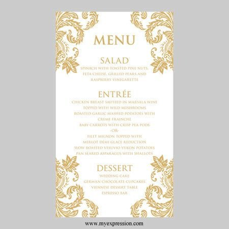 31 best Menus images on Pinterest