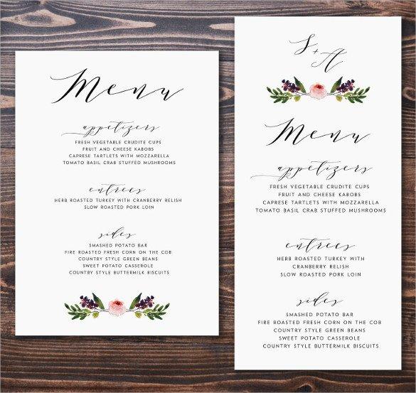 Wedding Menu Card Templates 47 Menu Card Templates Ai Psd Docs Pages