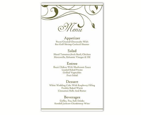 Wedding Menu Card Templates Best 25 Menu Template Word Ideas On Pinterest