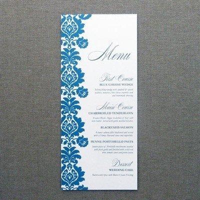 Wedding Menu Card Templates Menu Card Template – Rococo Design – Download & Print