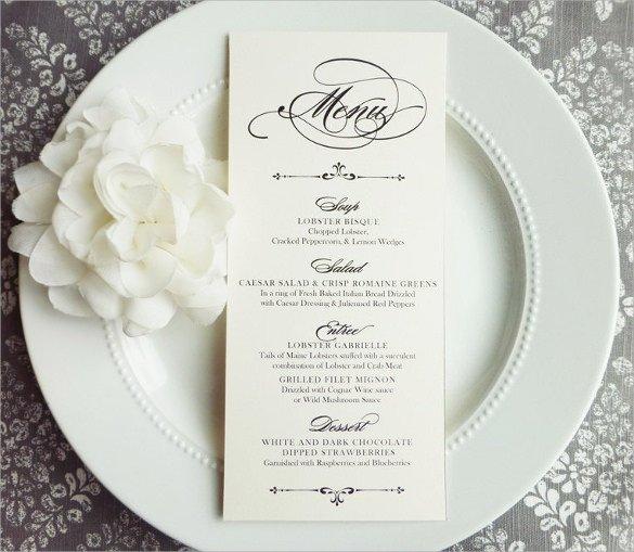 Wedding Menu Card Templates Wedding Menu Template 31 Download In Pdf Psd Word