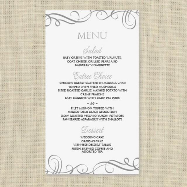 Wedding Menu Template Free Wedding Menu Card Template Download Instantly Edit