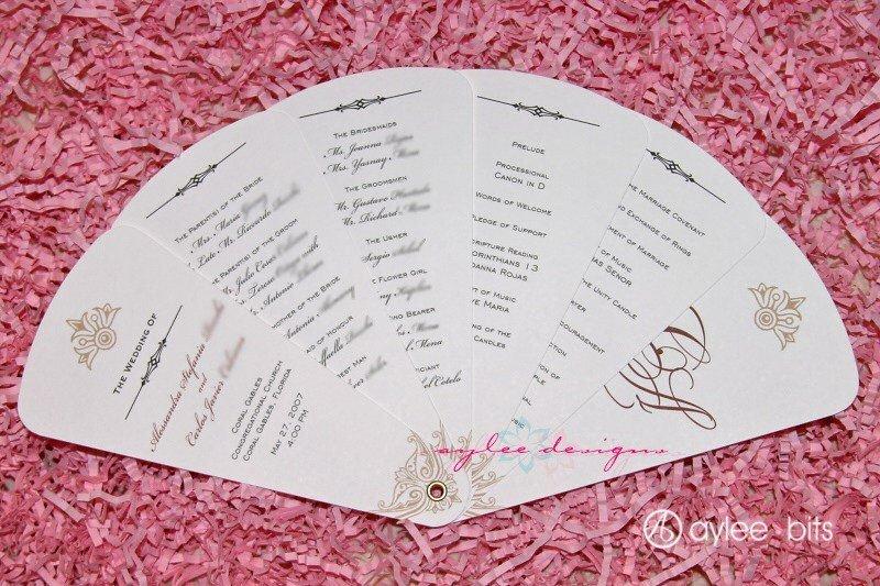 Wedding Program Fan Template Diy Fan Programs