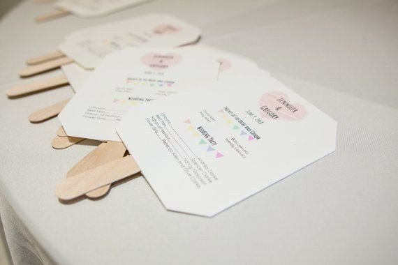 Minimalist Wedding Program Google Docs template