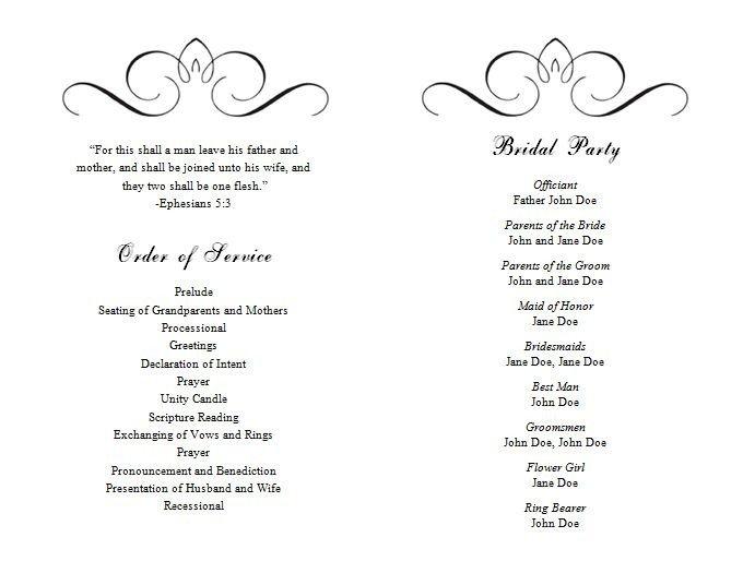 Wedding Program Template Microsoft Word Best 25 Wedding Program Templates Ideas On Pinterest