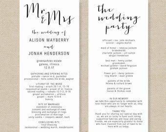 Wedding Program Template Microsoft Word order Of Service