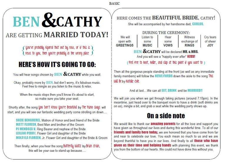 Wedding Programs Free Templates 27 Free Wedding Program Templates You Ll Love