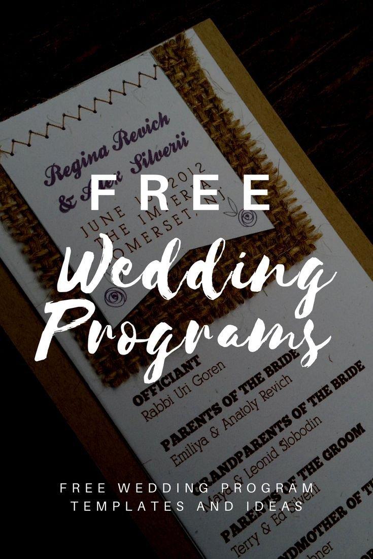 Wedding Programs Free Templates Best 25 Wedding Program Templates Ideas On Pinterest