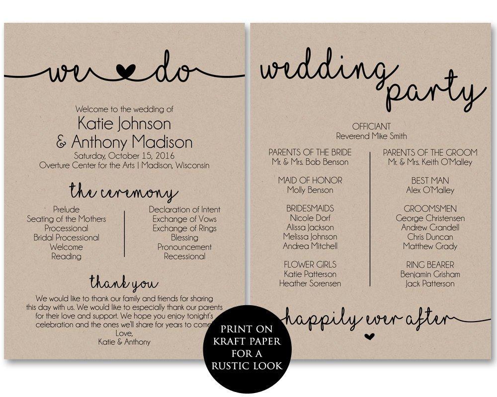 Wedding Programs Free Templates Ceremony Program Template Printable Wedding Programs