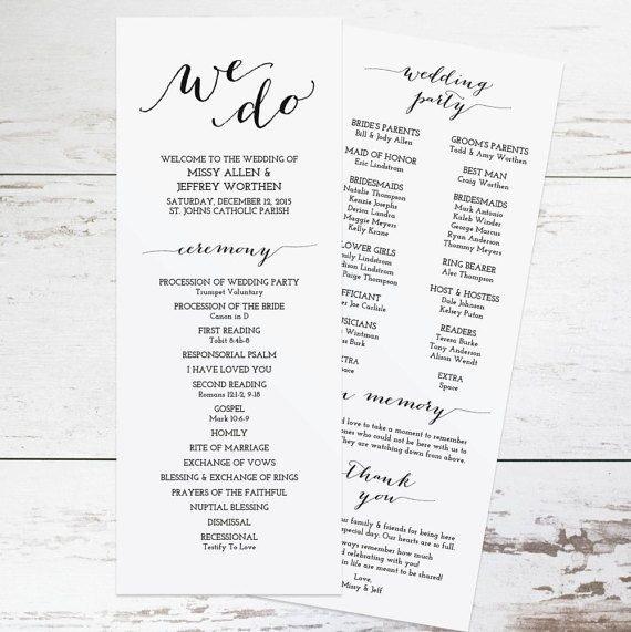 Wedding Programs Free Templates Free Wedding Program Templates