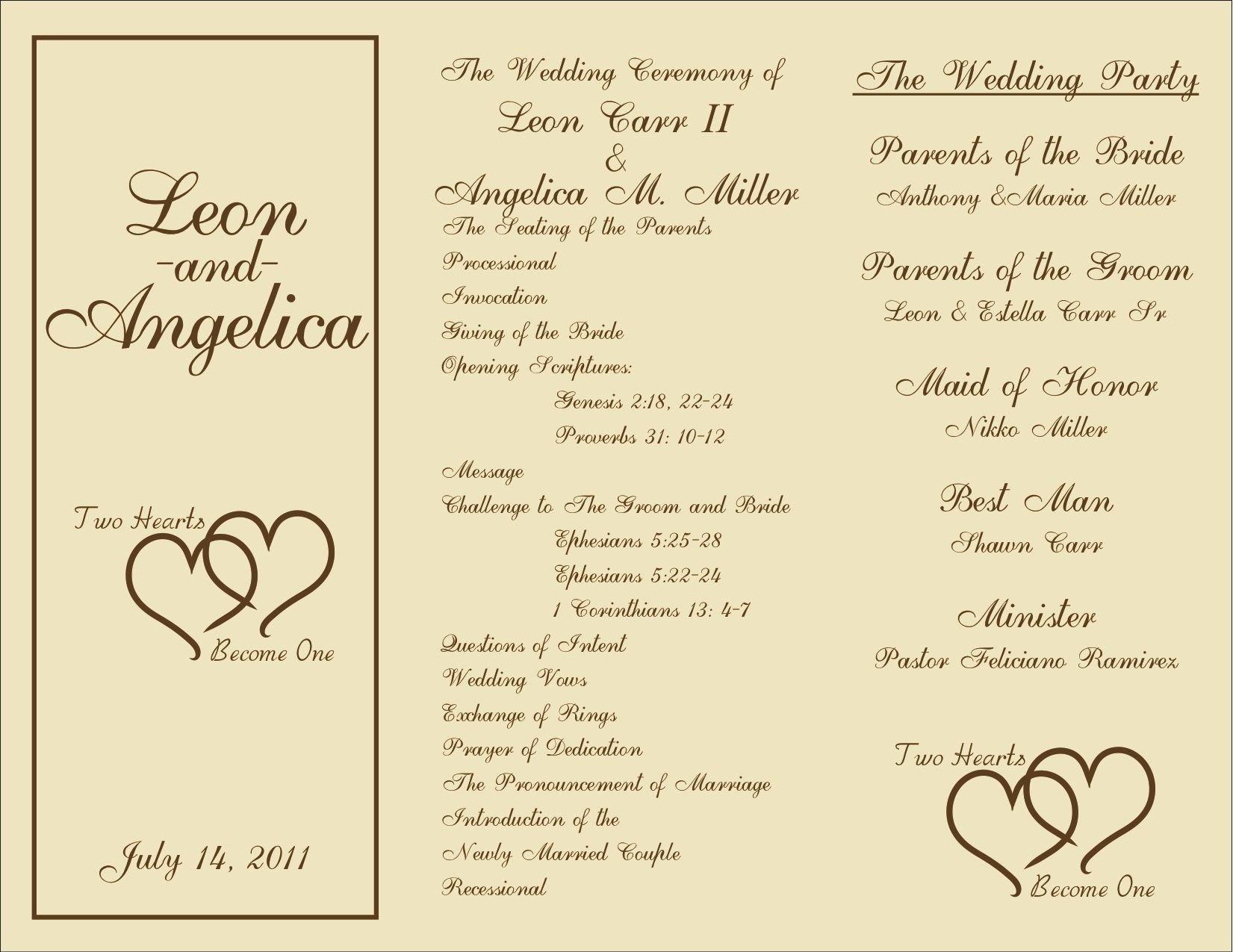 Wedding Programs Free Templates Printable Wedding Programs On Pinterest