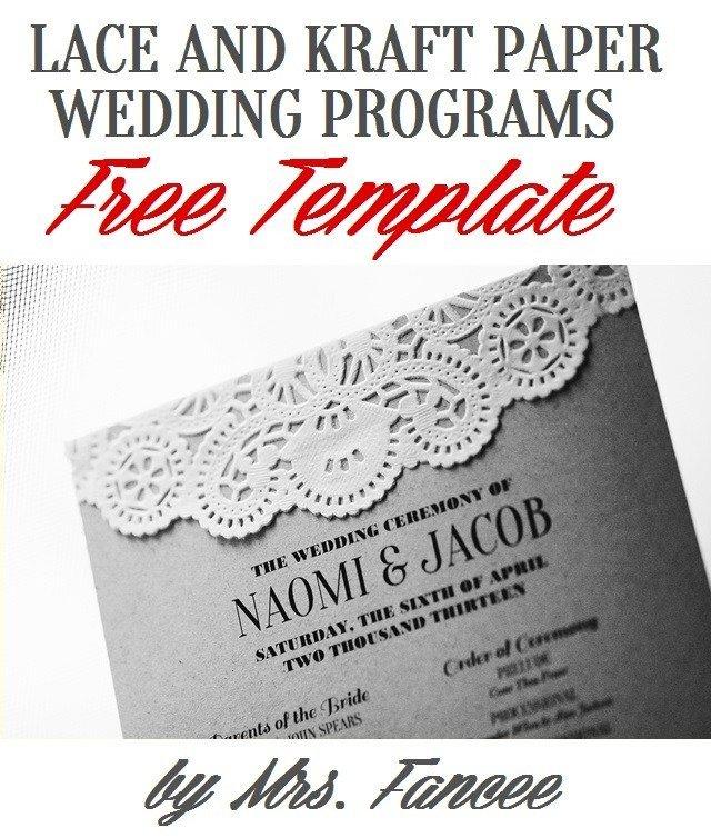 Wedding Programs Free Templates Wedding Program Template Mrs Fancee