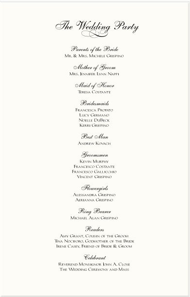 Wedding Reception Program Sample Sample Program for Wedding Reception Script Free