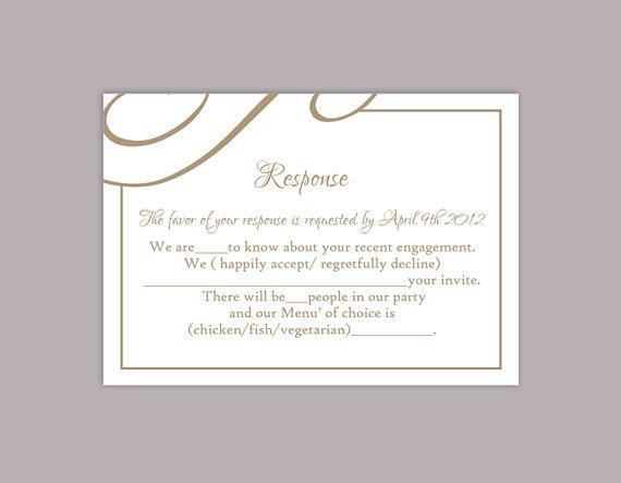 Wedding Rsvp Cards Templates Diy Wedding Rsvp Template Editable Text Word File Download