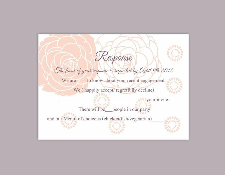 Wedding Rsvp Cards Templates Diy Wedding Rsvp Template Editable Word File Instant