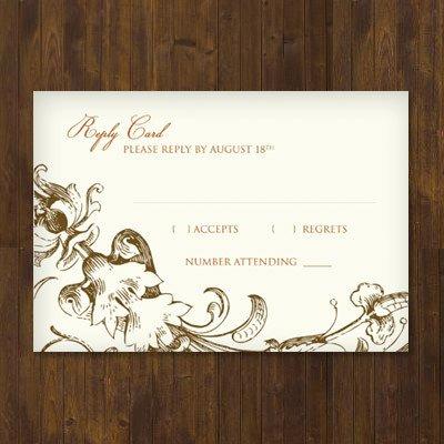 Wedding Rsvp Cards Templates Fall Harvest Wedding Rsvp Template – Download & Print