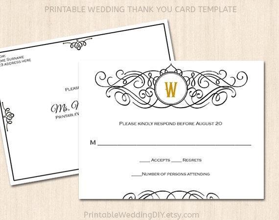 Wedding Rsvp Cards Templates Printable Wedding Rsvp Postcard Template Editable Wedding