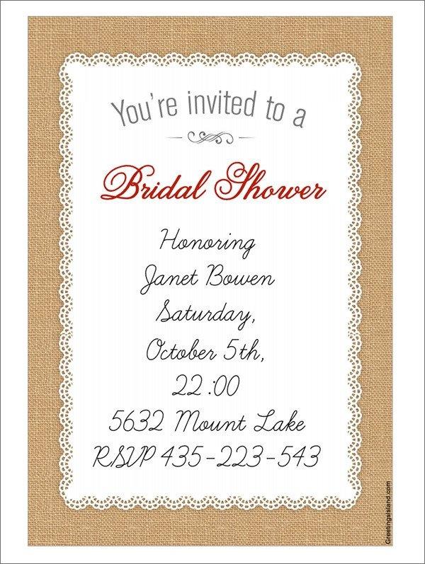 Wedding Shower Invitation Templates 25 Bridal Shower Invitation Templates Download Free