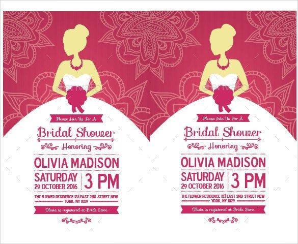 Wedding Shower Invitation Templates 33 Best Bridal Shower Invitation Templates Word Psd Ai
