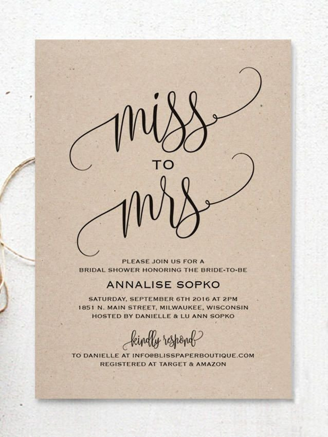 Wedding Shower Invitation Templates Best 25 Bridal Shower Invitations Ideas On Pinterest