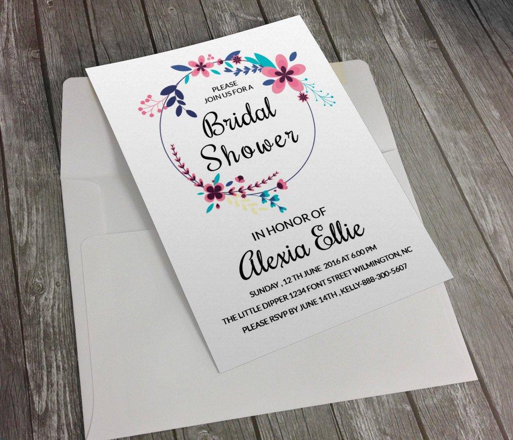 Wedding Shower Invitation Templates Bridal Shower Invitation Template Diy Printable Bridal